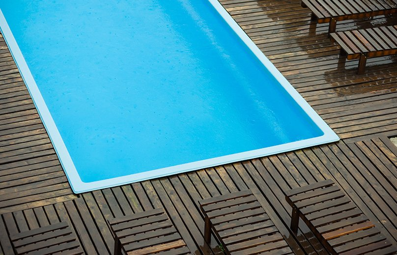 Pool Decking in Wood