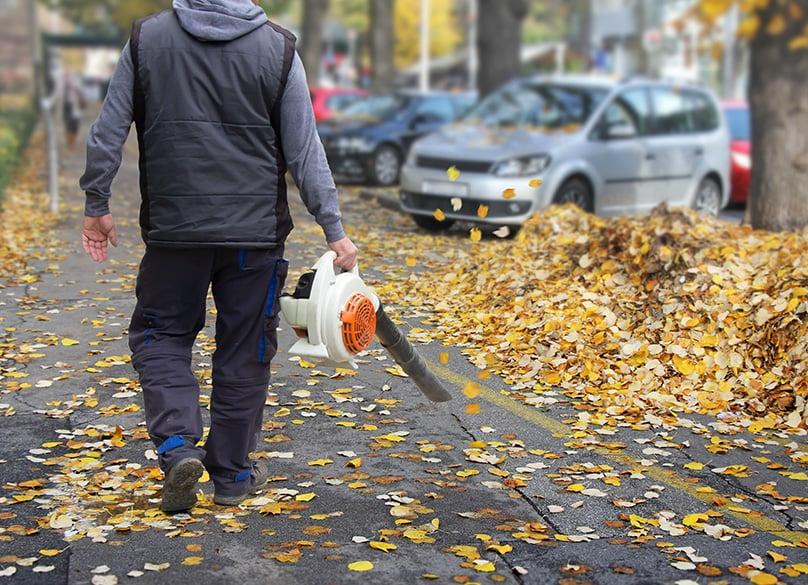 Hand held leaf blower