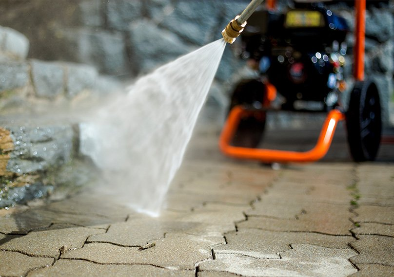 Great for cleaning patios and pavement