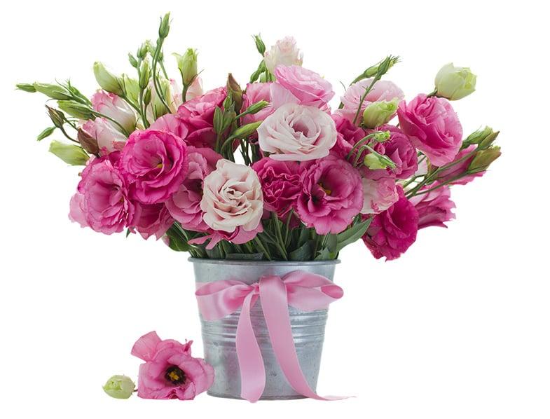 Lisianthus floral arrangement