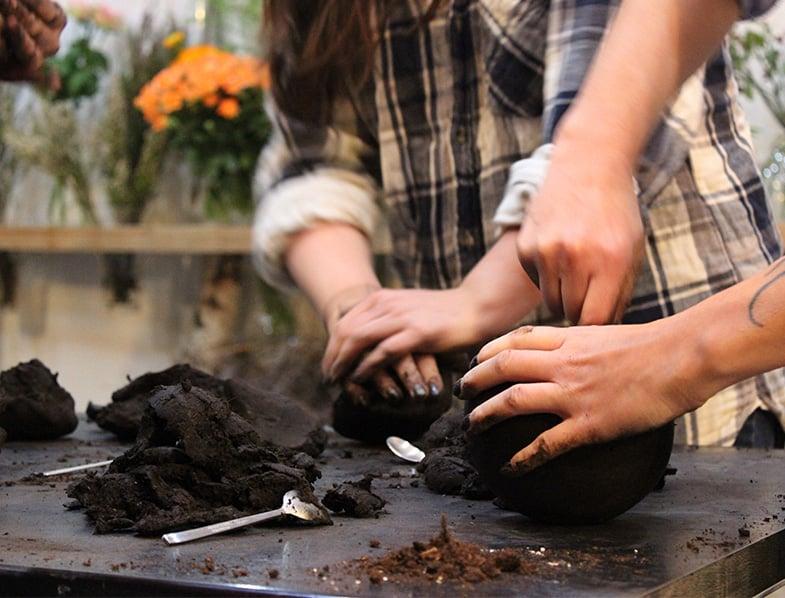 mix half peat moss and half bonsai soil
